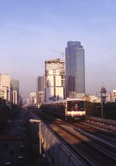 Thailand - Bangkok BTS - Sathorn Road (railasia) Tags: thailand 2000 bangkok scenic infra bts thirdrail sathornroad silomline routenº2