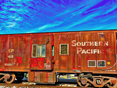 I don't know, does a one-liner joke about a train make it a monorail? (Parowan496) Tags: old railroad rusty freight photostream southernpacific railroadcar freightcar