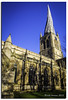 THE CHURCH WITH THE CROOKED SPIRE (vicki127.) Tags: trees church grass shadows derbyshire peakdistrict bluesky spire vicki chesterfield burrows digitalcameraclub flickraward ilovemypics canon650d ringexcellence lightroom4 vicki127 adobephotoshopcs6
