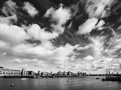 Big Sky (cybertect) Tags: sky cloud london river bermondsey riverthames e1 rotherhithe wapping se16 londone1 lenstagger canonfd17mmf40 downingsroadmoorings londonse16 sonya7