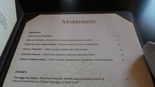 "Markham's menu <a style=""margin-left:10px; font-size:0.8em;"" href=""http://www.flickr.com/photos/22740503@N05/12190990396/"" target=""_blank"">@flickr</a>"