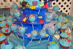Finding Nemo Cake Pops (rikkitikitavi) Tags: cake coral seashells dessert shark nemo handmade chocolate sealife disney cupcake vanilla squirt reef dory findingnemo milkchocolate fondant buttercream frenchvanilla brucetheshark handsculpted cakeball cakepop