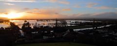 Sunset from Burrow Mump, Somerset (Robin M Morrison) Tags: sunset flooding somerset floods burrowmump somersetlevels