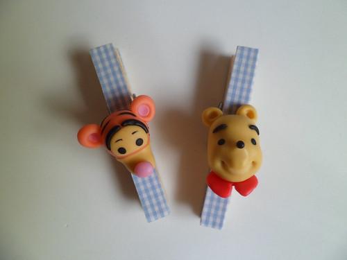 Pregadores ursinho pooh e tigrão