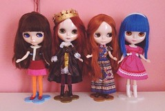 My current Blythe family.