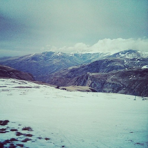 Skiing in Kosovo! Not much snow, but gorgeous views and great people.