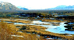 Iceland... (Grard Farenc (slowly back) !) Tags: ocean blue lake snow cold ice water port harbor eau europe lac glacier e neige froid glace volcan atlantique lagon reyjkiavik