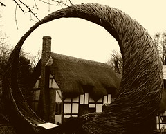 Anne Hathaway's cottage sepia (polly wonderous) Tags: cameraphone uk sepia samsung shakespeare views mobilephone warwickshire android 6000 stratforduponavon 1000views thebard arbour 2000views 10000views thatchcottage 3000views 50faves 4000views 1500views 7000views 8000views 9000views annehathawaycottage flickrandroidapp:filter=none 40likes samsunggalaxys4 45likes pollywonderous