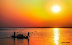 Padma shore Sunset (Kamrul Hasan Jisan) Tags: reflects obsessions reflectsobsessions