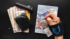 A Bit of Traveling EDC; Passport, Wallet, Foreign Cash, Life Capsule and Ticket (VINJABOND.COM) Tags: travel money wallet gear capsule edc passport travelgear hitcase vinjabond