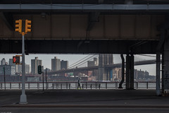 By the Water (pamhule) Tags: nyc newyorkcity bridge newyork water lines brooklyn trafficlight downtown rustic bridges brooklynheights dontwalk 5d fullframe williamsburgbridge pedestriancrossing pedestrianzone brookylnbridge 5dmarkii pamhule jensschott jensschottknudsen 佳能eos5dmarkii