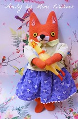 Amity the Fox Girl wishes all a very Happy Wubba Wednesday!!! (Kewty-pie) Tags: girl bag spring dress jacket fox amity mimikirchner