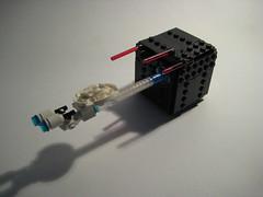 Lego uss enterprise vs the borg cube ([E]ddy) Tags: log lego borg lasers cube enterprise uss ussenterprise moc borgcube
