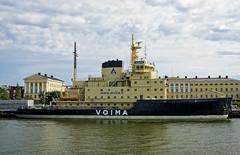 Voima (50v) Tags: water finland helsinki ship cloudy icebreaker katajanokka voima