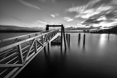 Old Town Sunrise (llabe) Tags: longexposure blackandwhite pier washington dock nikon pugetsound tacoma d610 commencementbay bw10stopndfilter
