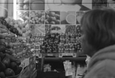 Mahne Yehuda Market, Jerusalem (Gabriela Gleizer) Tags: bw film fruits vegetables israel market jerusalem yashica yehuda mahne