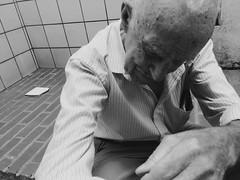Granpa (Maria Clara Barroso) Tags: old bw white black branco pb preto vô granpa avô granfather