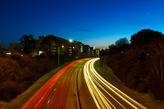 Bournemouth Traffic Light Trails (mpelleymounter) Tags: longexposure twilight headlights bournemouth brakelights cartrails trafficlighttrails dorsetnightsky markpelleymounter dorsetevening