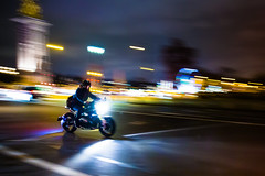 Driving in Paris by night (Zeeyolq Photography) Tags: road street city paris france night lights ledefrance motorcycle