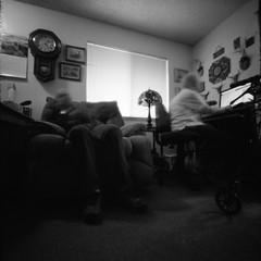 (busyclickn) Tags: family blackandwhite 6x6 film mediumformat square ishootfilm pinhole grandparents ilford zeroimage ilfordhp5plus filmisnotdead f138 zeroimage2000 canoscan9000f