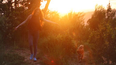 148/366: woman's best friend (Andrea  Alonso) Tags: family sunset dog naturaleza sun selfportrait sol me nature animal atardecer friend perro 365 autorretrato 366
