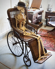 Waitin on the V.A...... (zoomclic) Tags: old canon skeleton antique wheelchair bowlerhat 5d zoomclicphotography vahospitalwait