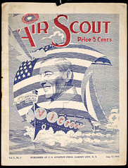 """Air Scout"" cover, 1918 (Madison Historical Society (CT-USA)) Tags: madisonhistory madisonhistoricalsociety mhs connecticut ct conn country usa newengland nikon nikond600 d600 bobgundersen old historical history museum military worldwari wwi 1stworldwar firstworldwar greatwar text leeacademy bostonpostroad interesting image inside interior indoor photo picture flickr ww1"