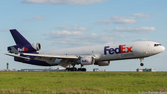 MD-11 Fedex (rouerjb) Tags: airplane airport landing spotting md11 cdg monstre lfpg mcdouglas