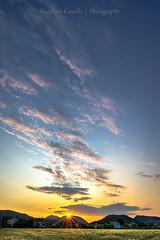 My Town (tampurio) Tags: light sunset sky italy panorama sun sunlight nature colors clouds landscape atardecer gold evening countryside town italian europe italia tramonto nuvole hill natura hills campagna cielo ita fields tramonti sole paesaggi luce paesaggio colline padova padua veneto collieuganei colli euganei torreglia