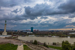 View of New Belgrade from Kalemegdan fortress (Vagelis Pikoulas) Tags: city travel sky cloud clouds canon river landscape march europe cityscape view cloudy serbia tokina balkans belgrade beograd 6d 2016 1628mm