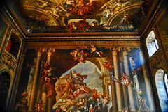 Painted Hall. Greenwich, London. (Infinity & Beyond Photography) Tags: old england london art college hall painted greenwich navy royal indoor ceiling walls decorated