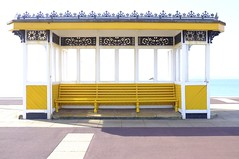 Southsea Victorian Shelter (Claire_Sambrook) Tags: streets yellow walk victorian portsmouth seafront shelter southsea