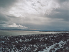 Winter in the Black Rock Desert (alvey_ski) Tags: winter mamiya clouds mediumformat landscape desert kodak ishootfilm highdesert mamiya645 mamiyam645 kodakportra160 shootfilmstaybroke