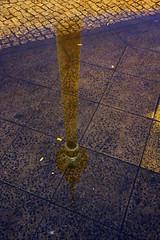 Berliner Fernsehturm in Pftze (Pascal Volk) Tags: reflection berlin alex night puddle nacht alexanderplatz fernsehturm reflexion spiegelung berlinmitte pftze sonydscrx100