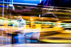L'aroport 5 (Fabrice Le Coq) Tags: reflet nuit couleur fil mouvements tendancefloue fabricelecoq flouecouleur