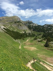 Valley on a mountain (Thomson Lakes) Tags: mountains hiking explorer valley peaks active achensee rofan