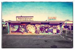 ROCK N ROLL HEAVEN (akahawkeyefan) Tags: building painted fresno gaudy davemeyer