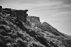 The Edge (Hey hey JBA) Tags: blackandwhite bw mono blackwhite d750 ai westyorkshire pennines marsden escarpment crag 105mm captureone pulehill