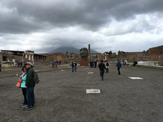 Vesuvius simmering in the background