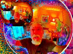 Fourth Dimension (chazart7777) Tags: orange yellow photomanipulation happy surrealism joy gimp ufo sphere bubble scifi ironic bliss imagemanipulation
