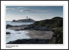 Godrevy Lighthouse (Chalky666) Tags: sea lighthouse seascape painterly art beach rock