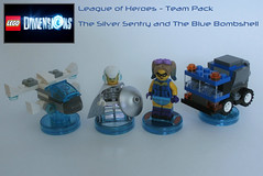 League of Heroes - LEGO Dimensions: Team Pack #1 (jgg3210) Tags: blue truck silver garbage model lego jet micro superhero videogame dimensions bombshell loh sentry moc minifigures microscale leagueofheroes
