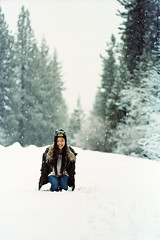 FM2 (5 of 35) (Eric Jang's photo) Tags: wood blue lake snow film water girl portraits 35mm landscape kodak dream tahoe scan 400 portra f135 pakon