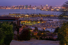 Nice Neighborhood (clarsonx) Tags: california city water skyline night buildings boats harbor twilight downtown sandiego dusk neighborhood bluehour laplaya pointloma sandiegobay