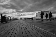 Back Down the Pier (tabulator_1) Tags: clouds blackwhite southport southportpier