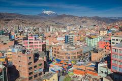 La Paz y el Illimani de fondo (Andrs Photos 2) Tags: streets bolivia ciudad lapaz calles altiplano sudamerica elalto lasbrujas