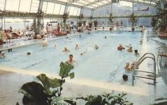 Resorts International Hotel Casino - Atlantic City, New Jersey (The Cardboard America Archives) Tags: pool vintage hotel newjersey postcard atlanticcity