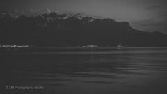 leman at dusk (mamuangsuk) Tags: lemanatdusk lacleman lakegeneva rivieravaudoise vevey atduskwerise monochromelandscaping faded blackandwhiteimages mamuangsuk lakeside lakescape nightscape