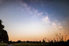 Milky Way near Kiel (bhansen.kiel) Tags: road blue red sky tree field night canon way stars nacht feld himmel galaxy milky kiel sterne strase milchstrase