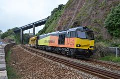 60047 (Teignstu) Tags: railway seawall devon teignmouth colas class60 60047 railvac